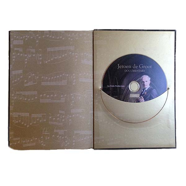 A book with solo sonates and partitas, J.S. Bach, contains 2CD and DVD